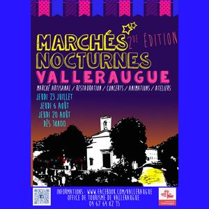 Bandeau marchés nocturnes Valleraugue
